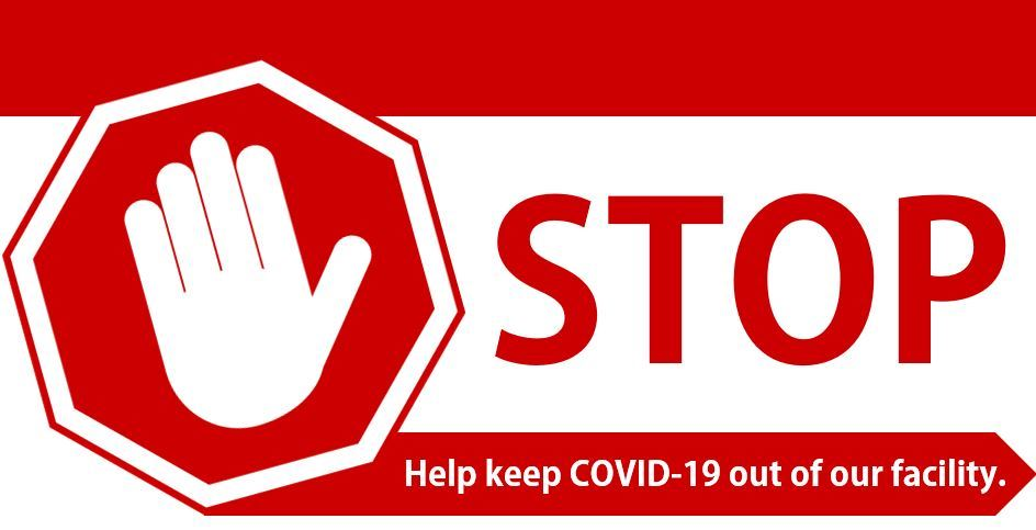 COVID-19 Stop Sign