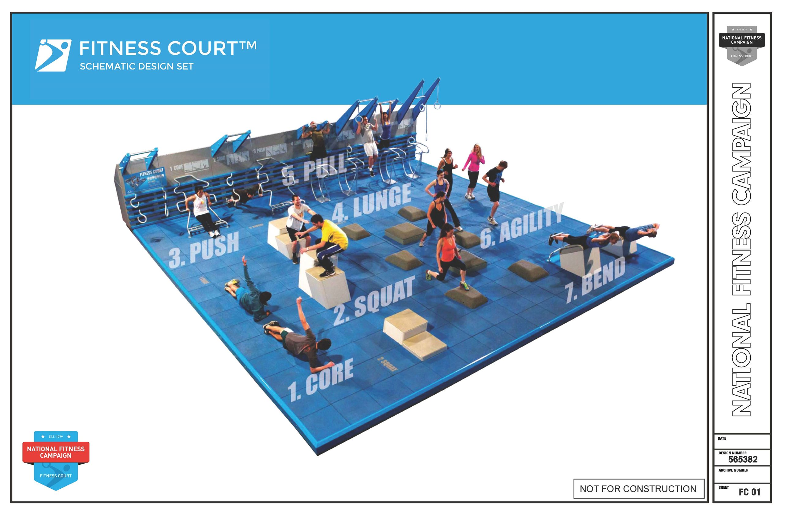 National Fitness Campaign Fitness Court Schematic
