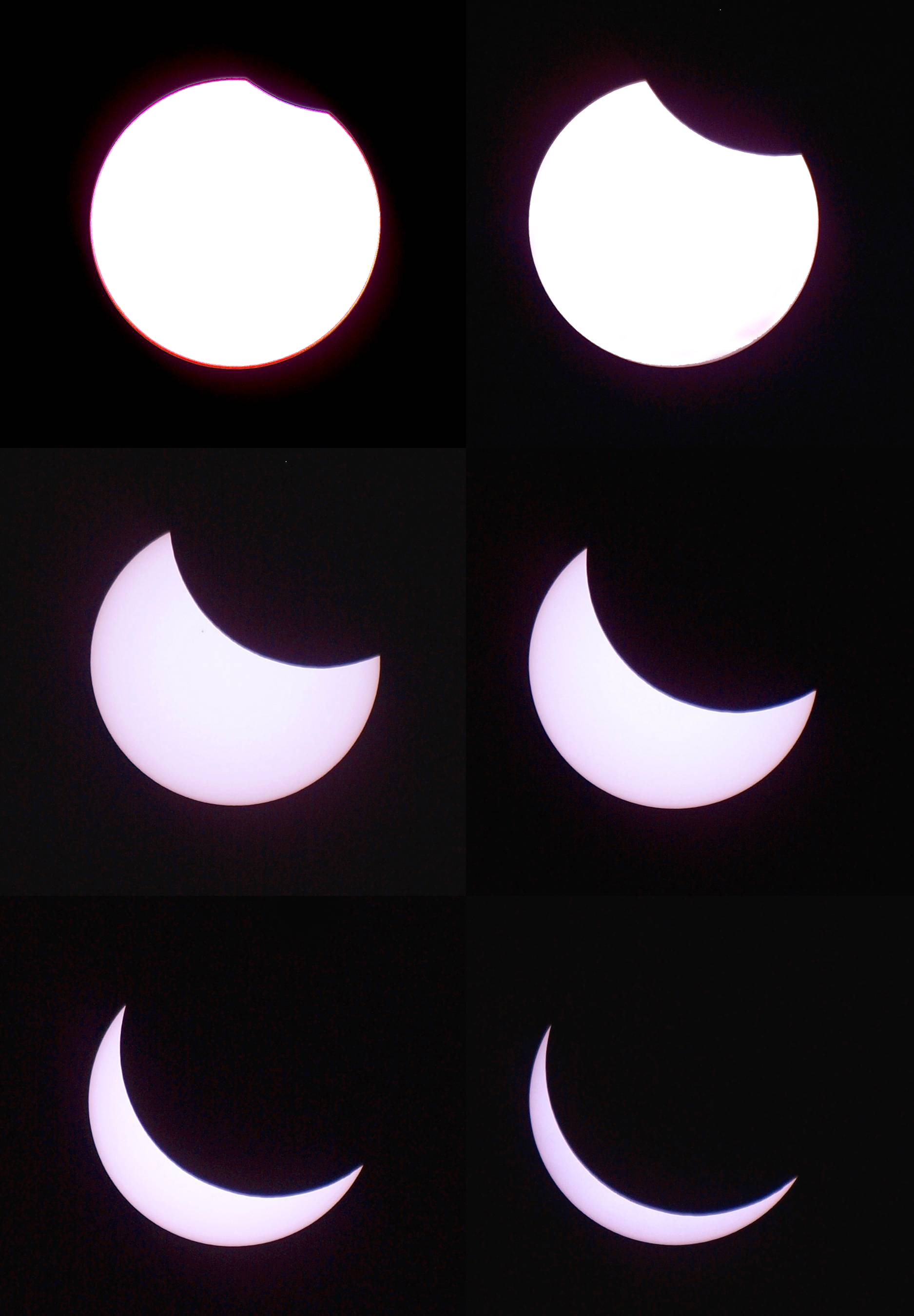 Partial Phases - Solar Eclipse