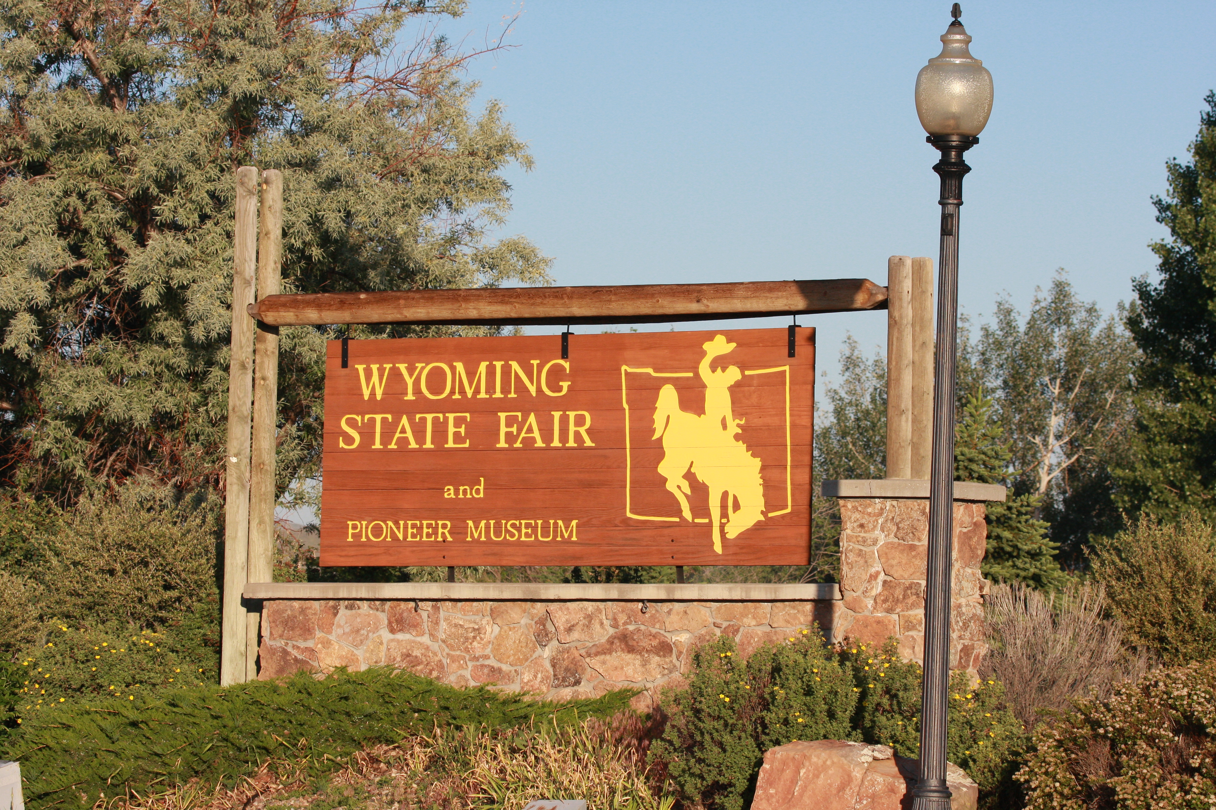 Wyoming State Fairgrounds Sign